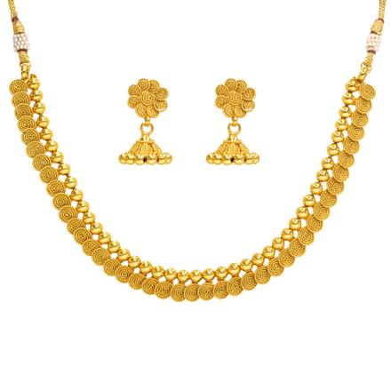 14355 Antique Delicate Necklace with gold plating