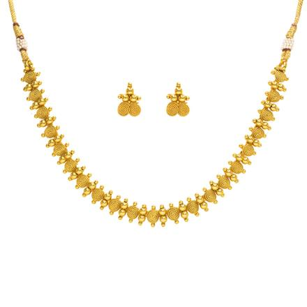 14356 Antique Delicate Necklace with gold plating