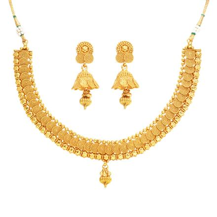 14357 Antique Delicate Necklace with gold plating