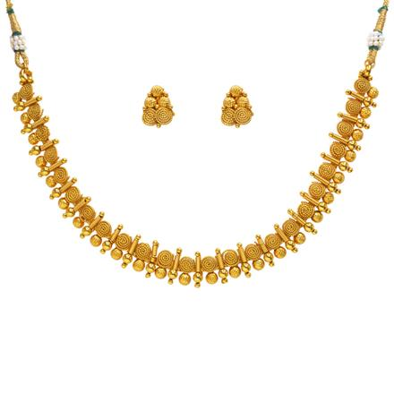 14358 Antique Delicate Necklace with gold plating