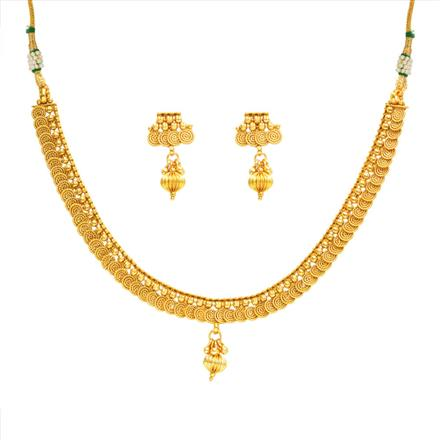14360 Antique Delicate Necklace with gold plating