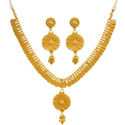 14361 Antique Delicate Necklace with gold plating