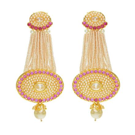 14363 Antique Long Earring with gold plating