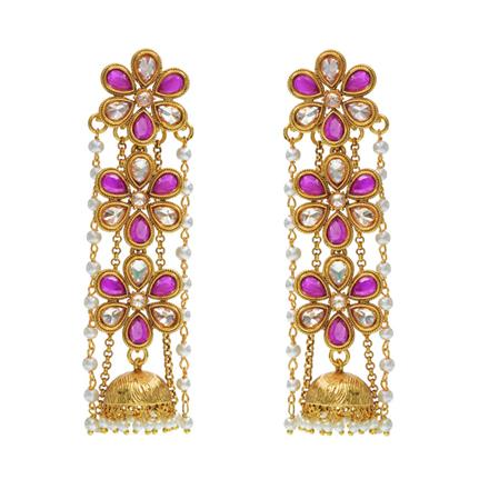 14367 Antique Long Earring with gold plating