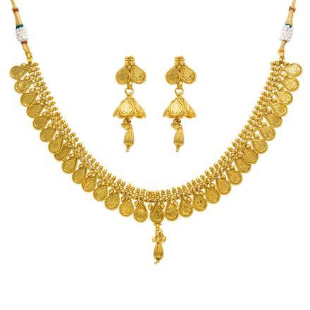14371 Antique Plain Gold Necklace