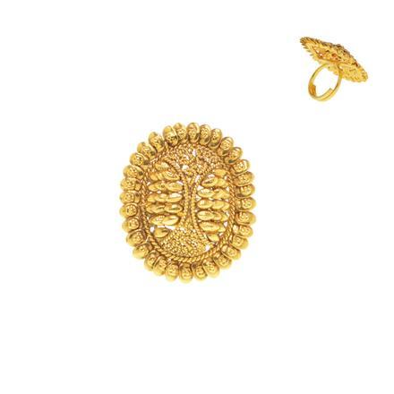14372 Antique Plain Gold Ring