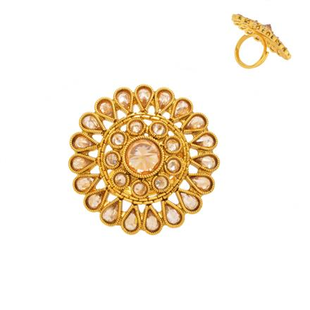 14373 Antique Classic Ring with gold plating