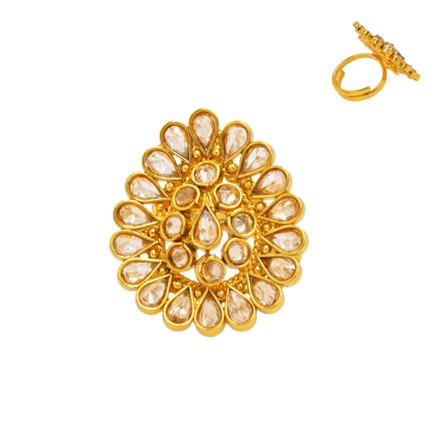 14374 Antique Classic Ring with gold plating