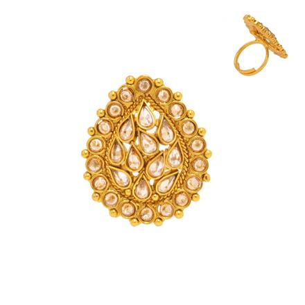 14375 Antique Classic Ring with gold plating