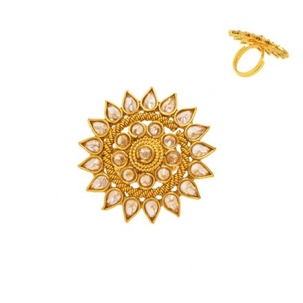 14376 Antique Classic Ring with gold plating