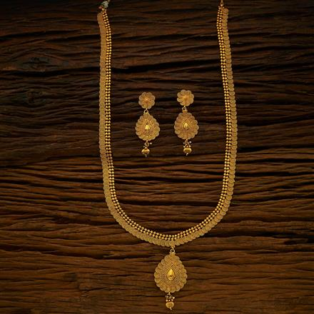 14377 Antique Long Necklace with gold plating