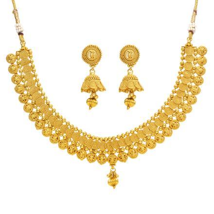 14378 Antique Plain Gold Necklace
