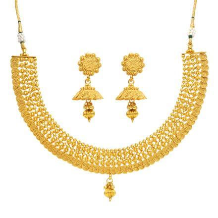 14379 Antique Plain Gold Necklace