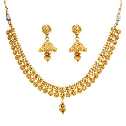 14383 Antique Plain Gold Necklace