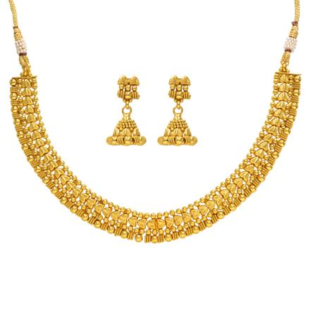 14384 Antique Plain Gold Necklace