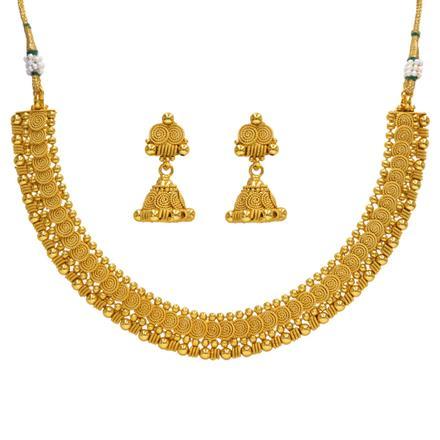 14385 Antique Plain Gold Necklace