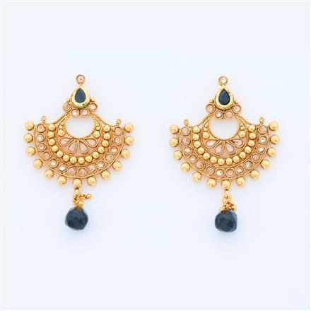 14404 Antique Chand Earring with gold plating