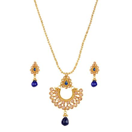 14451 Antique Classic Pendant Set with gold plating