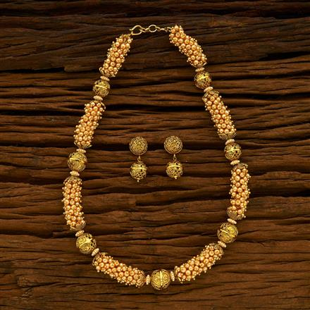 14453 Antique Mala Necklace with gold plating