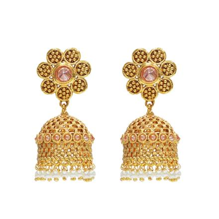 14461 Antique Jhumki with gold plating