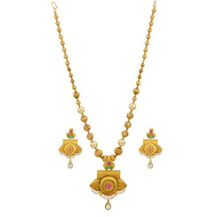 14495 Antique Classic Pendant Set with gold plating