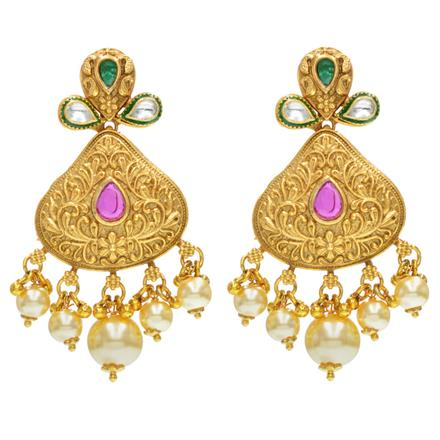 14496 Antique Classic Earring with gold plating