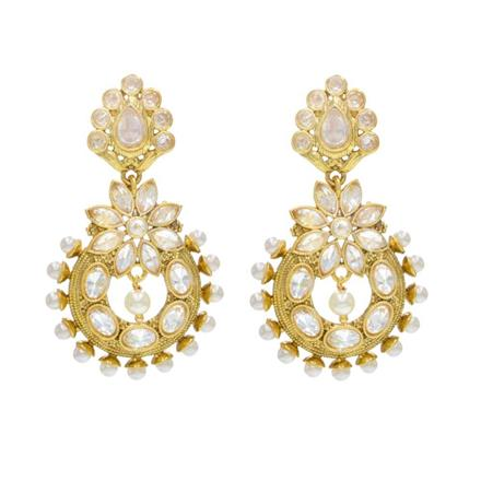 14512 Antique Delicate Earring with gold plating