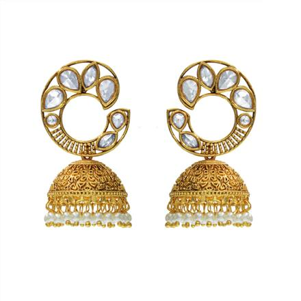 14513 Antique Jhumki with gold plating