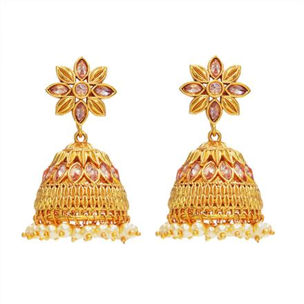 14514 Antique Jhumki with gold plating