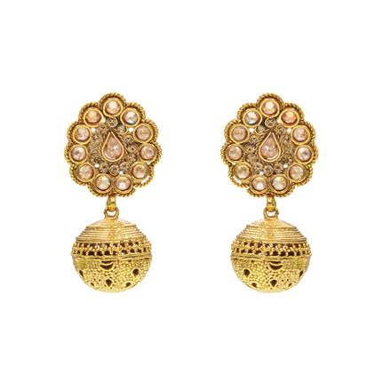 14517 Antique Jhumki with gold plating