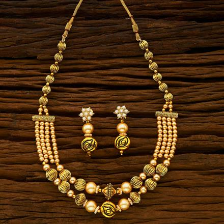 14520 Antique Mala Necklace with gold plating