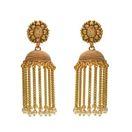 14525 Antique Jhumki with gold plating
