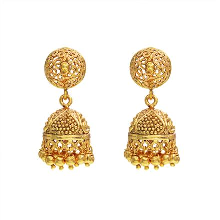 14526 Antique Jhumki with gold plating