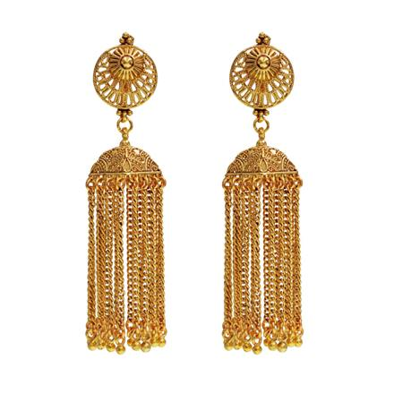 14528 Antique Jhumki with gold plating