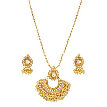 14537 Antique Classic Pendant Set with gold plating