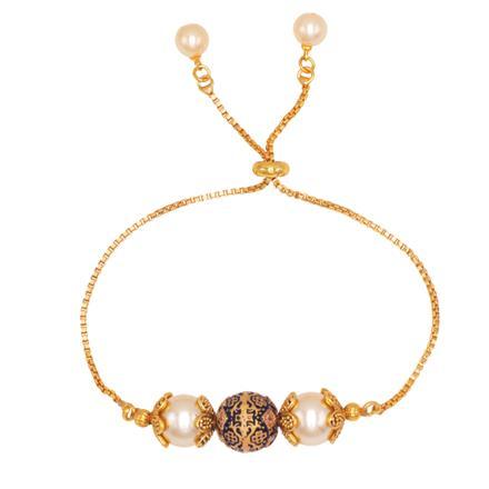 14539 Antique Adjustable Bracelet with gold plating