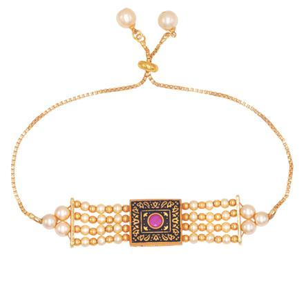 14540 Antique Adjustable Bracelet with gold plating