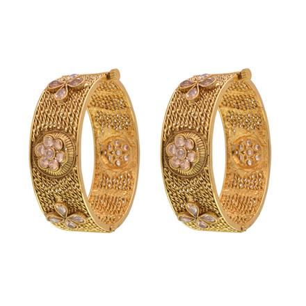 14541 Antique Openable Bangles with gold plating