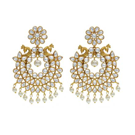 14543 Antique Peacock Earring with gold plating