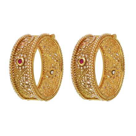 14568 Antique Openable Bangles with gold plating