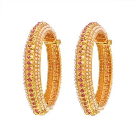 14571 Antique Openable Bangles with gold plating
