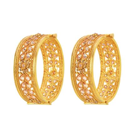 14574 Antique Classic Bangles with gold plating