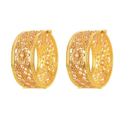 14575 Antique Classic Bangles with gold plating