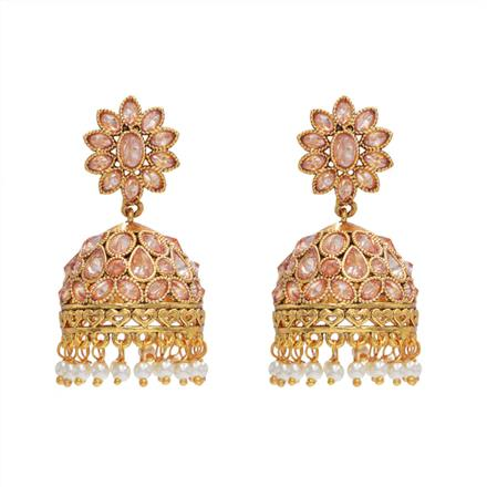 14576 Antique Jhumki with gold plating