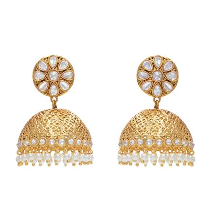 14577 Antique Jhumki with gold plating