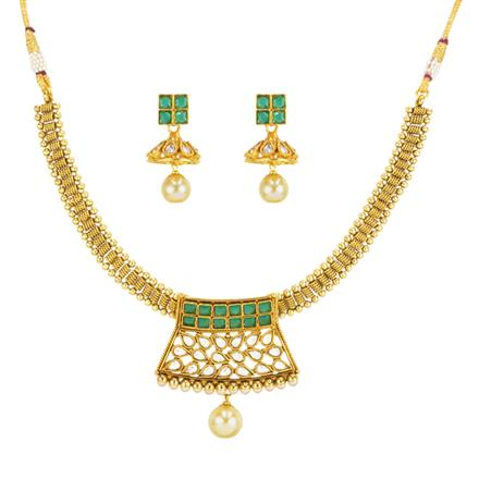 14578 Antique Choker Necklace with gold plating