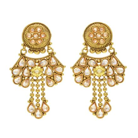 14581 Antique Classic Earring with gold plating