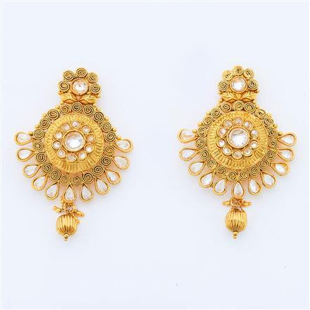 14582 Antique Classic Earring with gold plating