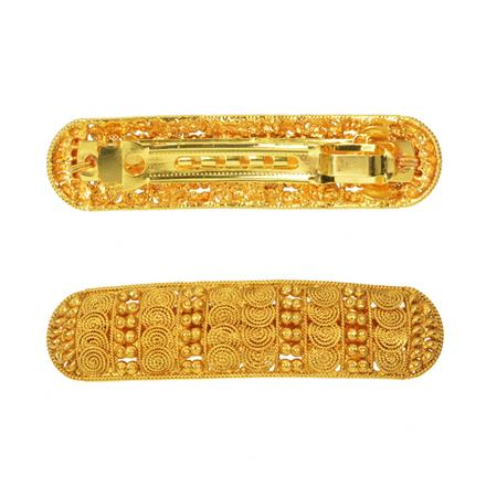 14586 Antique Classic Hair Clip with gold plating