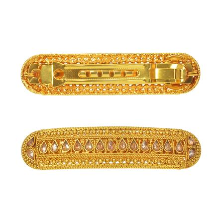 14589 Antique Classic Hair Clip with gold plating